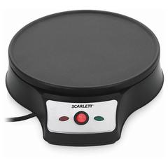 Блинница SCARLETT SC-PM229D98, 1000 Вт, формы для блинов и оладий, антипригарное покрытие, черная