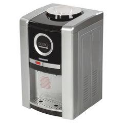 Кулер для воды SONNEN TEB-02, настольный, электронное охлаждение/нагрев, 2 крана, серебр./черный