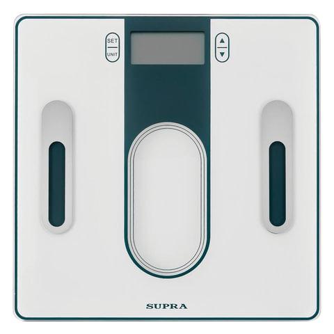 Весы напольные диагностические SUPRA BSS-6300, электронные, вес до 180 кг, квадратные, стекло, серые