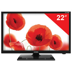 Телевизор TELEFUNKEN 22'' (55 см), TF-LED22S48T2, 1920x1080 Full HD, 50 Гц, HDMI, USB, черный, 2,2 кг