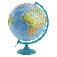 Глобус физический диаметр 320 мм, рельефный, с подсветкой