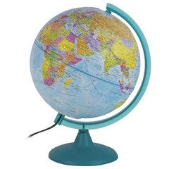 Глобус политический/физический диаметр 250 мм, рельефный, с подсветкой