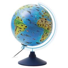 """Глобус зоогеографический GLOBEN """"Классик Евро"""", диаметр 250 мм, с подсветкой, детский"""