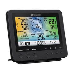 Метеостанция BRESSER 5в1 Wi-Fi, термодатчик, гигрометр, барометр, ветромер, дождемер, будильник, черный, 73261