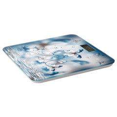 Весы напольные ECON ECO-BS003, электронные, вес до 180 кг, термометр, квадратные, стекло, с рисунком