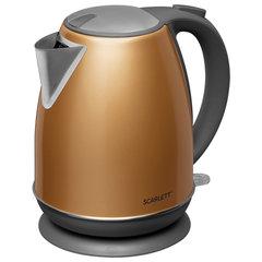 Чайник SCARLETT SC-EK21S86, 1,7 л, 2200 Вт, закрытый нагревательный элемент, сталь, золото