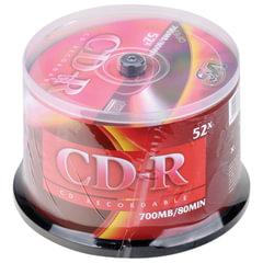 Диски CD-R VS 700Mb 52x, КОМПЛЕКТ 50 шт., Cake Box