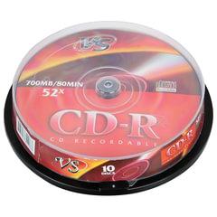 Диски CD-R VS 700 Mb 52x, КОМПЛЕКТ 10 шт., Cake Box
