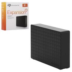 """Диск жесткий внешний HDD SEAGATE """"Expansion"""", 2 ТВ, 3,5"""", USB 3.0, черный"""