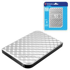 """Внешний жесткий диск VERBATIM Store 'n' Go 1TB, 2.5"""", USB 3.0, серебряный, 53197"""
