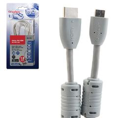 Кабель HDMI-mini HDMI, 1,8 м, BELSIS, M-M, 2 фильтра, для передачи цифрового аудио-видео, BW1754