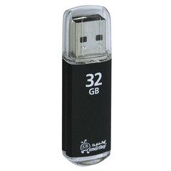 Флэш-диск 32 GB, SMARTBUY V-Cut, USB 2.0, металлический корпус, черный