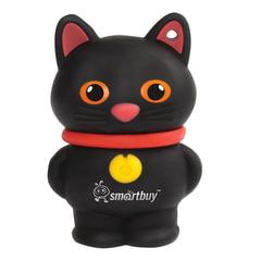 """Флэш-диск сувенирный 16 GB, SMARTBUY Wild """"Котенок"""", USB 2.0, черный"""