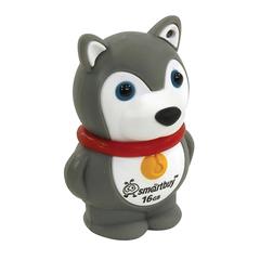 "Флэш-диск сувенирный 16 GB, SMARTBUY Wild ""Собачка"" USB 2.0, серый"