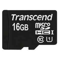 Карта памяти micro SDHC, 16 GB, TRANSCEND Premium 300x, UHS-I U1, 45 Мб/сек. (class 10)