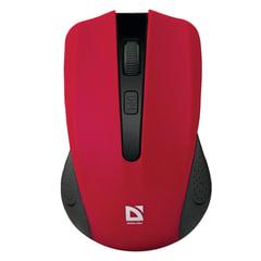 Мышь беспроводная DEFENDER Accura MM-935, 3 кнопки + 1 колесо-кнопка, оптическая, красная, 52937