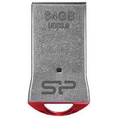 Флэш-диск 64 GB, SILICON POWER Jewel J01, USB 3.1, металлический корпус, красный