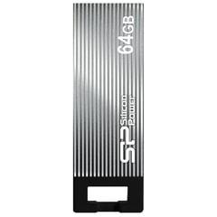 Флэш-диск 64 GB, SILICON POWER Touch 835, USB 2.0, металлический корпус, серый