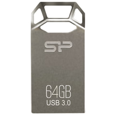 Флэш-диск 64 GB, SILICON POWER Jewel J50, USB 3.1, металлический корпус, серый