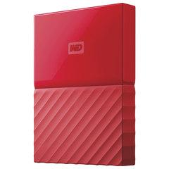 """Диск жесткий внешний HDD WESTERN DIGITAL """"My Passport"""", 1 TB, 2,5"""", USB 3.0, красный"""