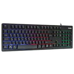 Клавиатура проводная игровая SVEN KB-C7100EL, с подсветкой, USB, 104 клавиши, чёрная
