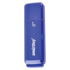 Флэш-диск 8 GB, SMARTBUY Dock, USB 2.0, синий