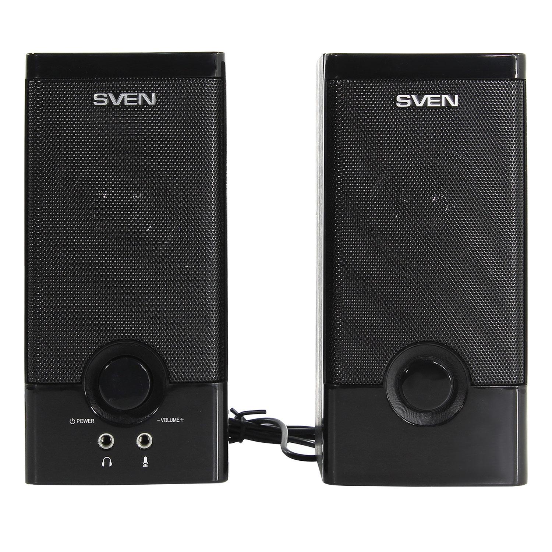 Колонки компьютерные SVEN SPS-603, 2.0, 2х3 Вт, дерево, черные