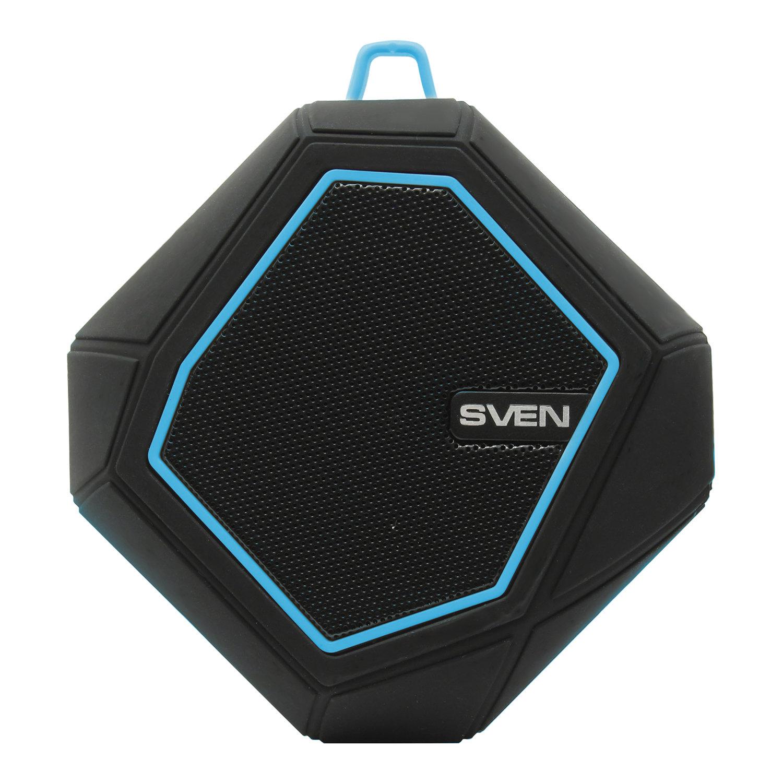 Колонка портативная влагозащищенная SVEN PS-77, 1.0, 5 Вт, Bluetooth, FM, microSD, MP3, черная
