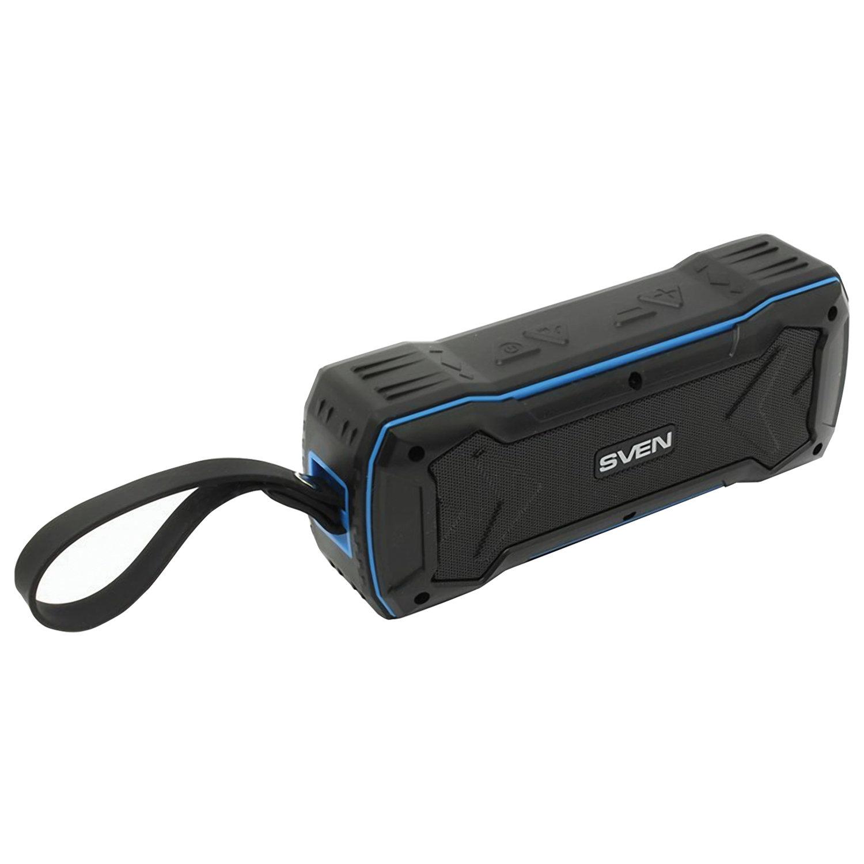 Колонка портативная влагозащищенная SVEN PS-220, 1.0, 10 Вт, Bluetooth, FM, microSD, MP3, черная