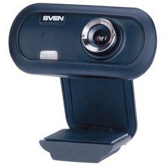 Веб-камера SVEN IC-950 HD, 1,3 Мп, микрофон, USB 2.0, регулируемое крепление, синий