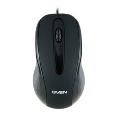 Мышь проводная SVEN RX-170, USB, 2 кнопки + 1 колесо-кнопка, оптическая, чёрная