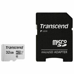 Карта памяти microSDHC 32 GB TRANSCEND UHS-I U3, 95 Мб/сек (class 10), адаптер, TS32GUSD300S-A