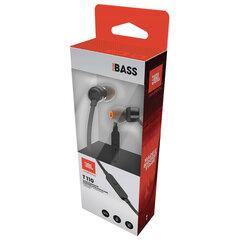 Наушники с микрофоном (гарнитура) JBL T110 BLK, проводные, 1,2 м, вкладыши, стерео, черные