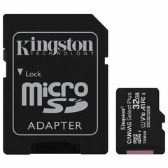 Карта памяти microSDHC 32 GB KINGSTON Canvas Select Plus, UHS-I U1, 100 Мб/с (class 10), адаптер, SDCS2/32GB
