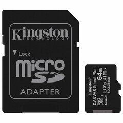 Карта памяти microSDXC 64 GB KINGSTON Canvas Select Plus, UHS-I U1, 100 Мб/с (class 10), адаптер, SDCS2/64GB