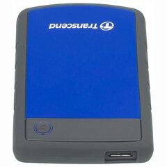 """Внешний жесткий диск TRANSCEND StoreJet 2TB, 2.5"""", USB 3.0, синий, TS2TSJ25H3B"""