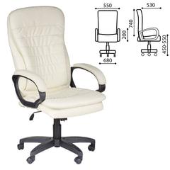"""Кресло офисное """"Силуэт"""", экокожа, бежевое"""