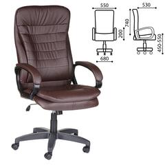 """Кресло офисное """"Силуэт"""", экокожа, коричневое"""
