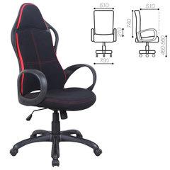 """Кресло офисное BRABIX """"Force EX-516"""", ткань, черное/вставки красные"""