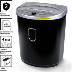 Уничтожитель (шредер) BRAUBERG S8-DS, 2 уровень секретности, полоски 4 мм, 8 листов, 23 л, 531772