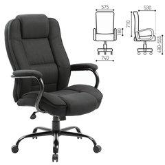 Кресло офисное BRABIX Heavy duty HD-002, усиленная конструкция, нагрузка до 200 кг, ткань