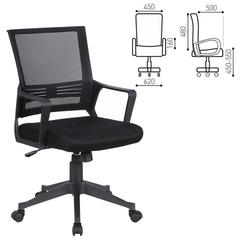 Кресло оператора BRABIX Balance MG-320, с подлокотниками, черное