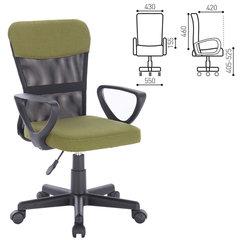 """Кресло BRABIX """"Jet MG-315"""", с подлокотниками, зеленое"""
