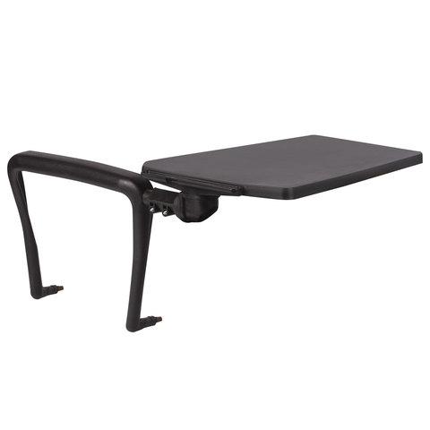 Стол (пюпитр) для стула BRABIX Iso CF-001, для конференций, складной, пластик/металл, черный