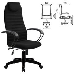 Кресло офисное МЕТТА BP-10PL, ткань-сетка, черное