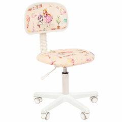 """Кресло детское СН KIDS 101, без подлокотников, розовое с рисунком """"Принцессы"""""""
