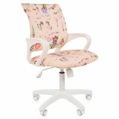 """Кресло детское СН KIDS 103, с подлокотниками, розовое с рисунком """"Принцессы"""""""