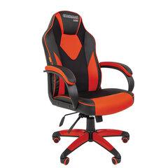 Кресло компьютерное СН GAME 17, экокожа, черное/красное