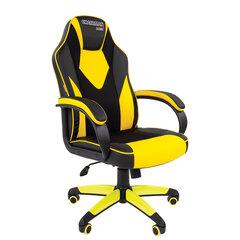 Кресло компьютерное СН GAME 17, экокожа, черное/желтое