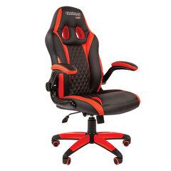 Кресло компьютерное СН GAME 15, экокожа, черное/красное